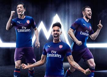 Camiseta suplente 2018/19 del Arsenal | Imagen Puma