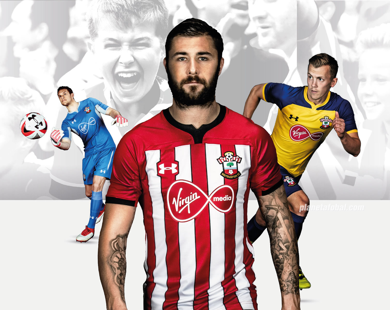 Camisetas Under Armour del Southampton 2018/19 | Foto Web Oficial