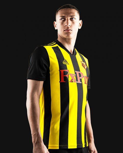 Camiseta titular Adidas 2018/19 del Watford FC | Imagen Web Oficial