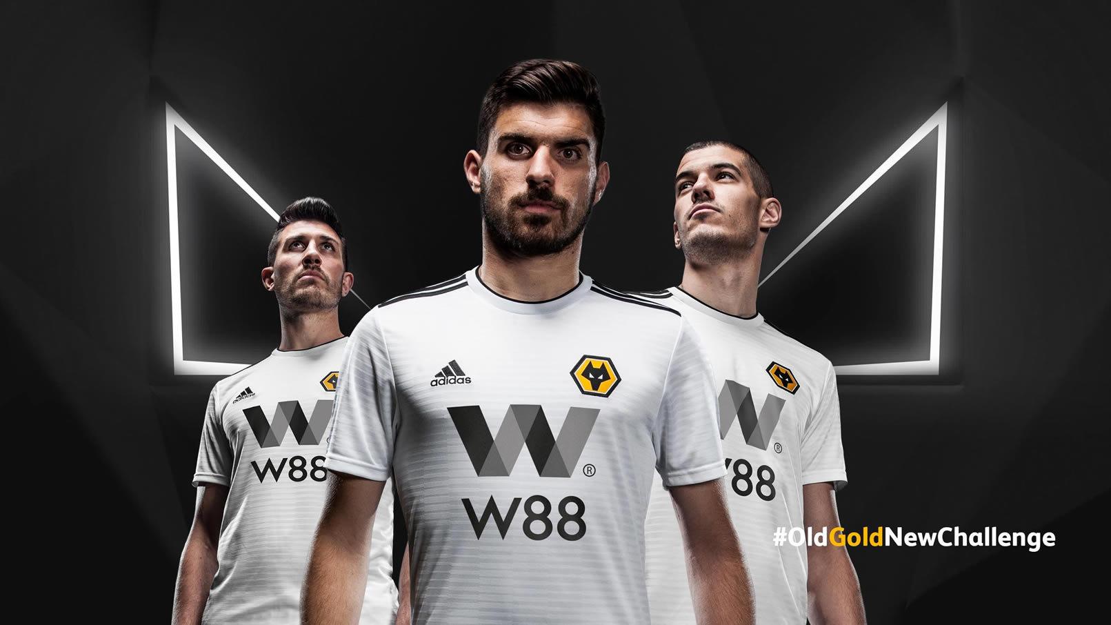 Camiseta suplente Adidas del Wolverhampton 2018/19 | Imagen Web Oficial