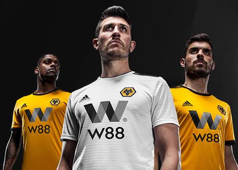 Camisetas Adidas del Wolverhampton 2018/19 | Imagen Web Oficial