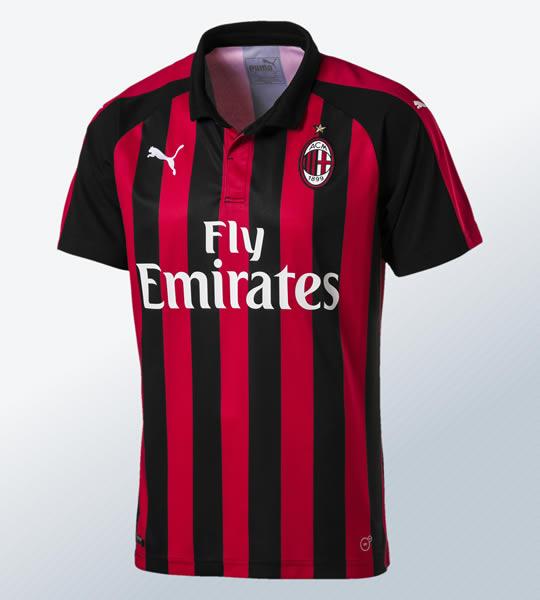 Camiseta titular 2018/19 del AC Milan | Imagen Puma