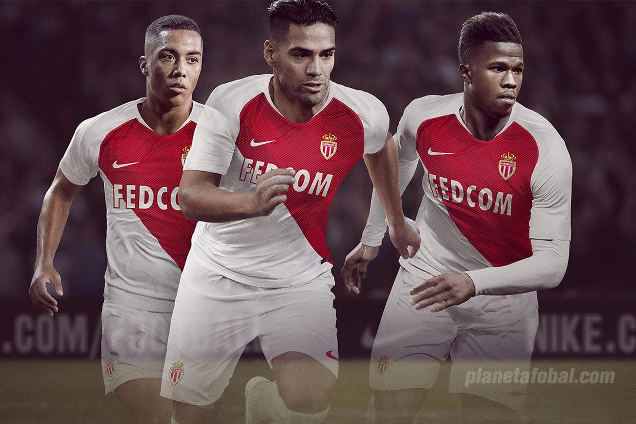 Camiseta titular Nike del AS Monaco 2018/19 | Imagen Web Oficial