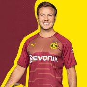 Mario Götze con la tercera camiseta Puma 2018/19 del Borussia Dortmund | Imagen Web Oficial