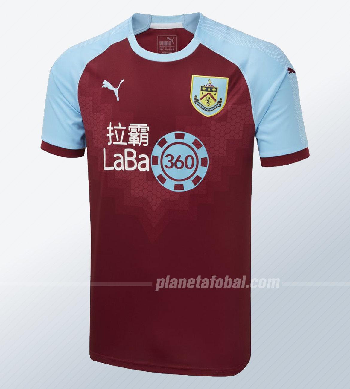 Camiseta titular Puma del Burnley 2018/19 | Imagen Web Oficial