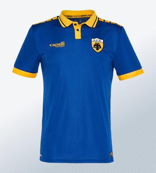 Tercera camiseta Capelli Sport del AEK | Imagen Web Oficial