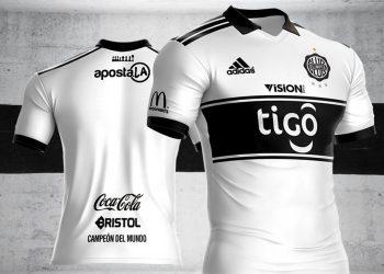 Camiseta titular Adidas del Club Olimpia | Imagen Facebook Doral SA
