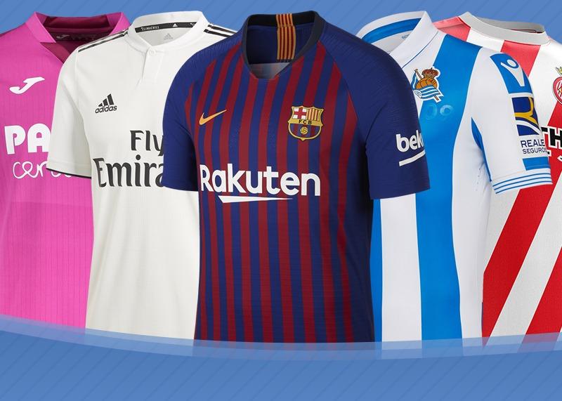Las camisetas de LaLiga Santander de España 2018 2019 9fbf3219388c9