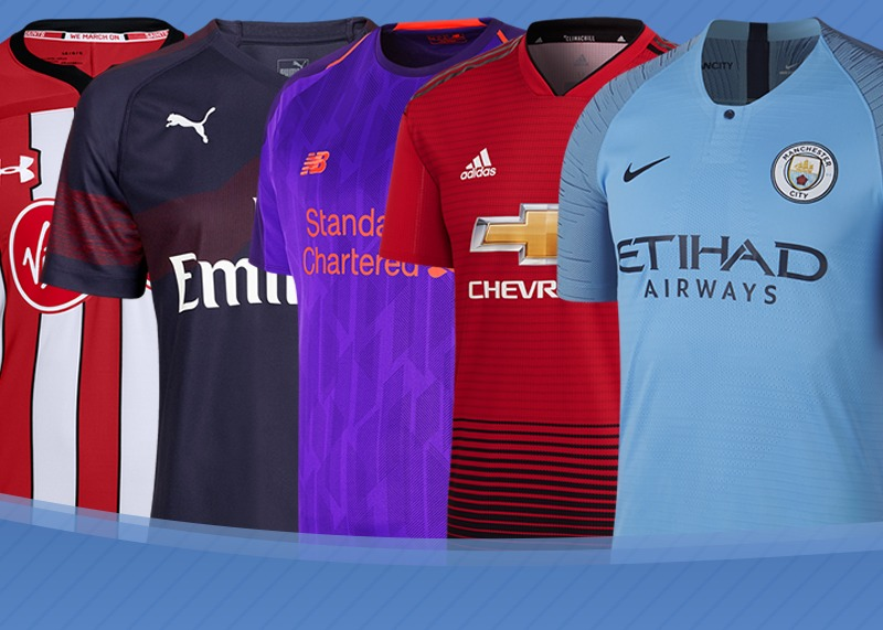 Las camisetas de la Premier League 2018/2019