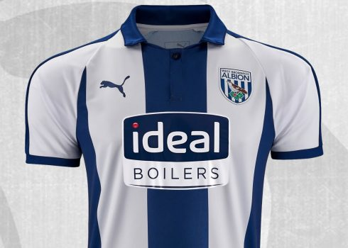 Camiseta titular Puma del West Bromwich Albion 2018/19   Imagen Web Oficial