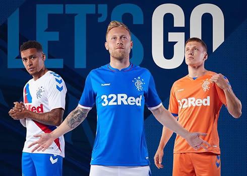 Camisetas Hummel 2018/19 del Rangers FC   Imagen Web Oficial