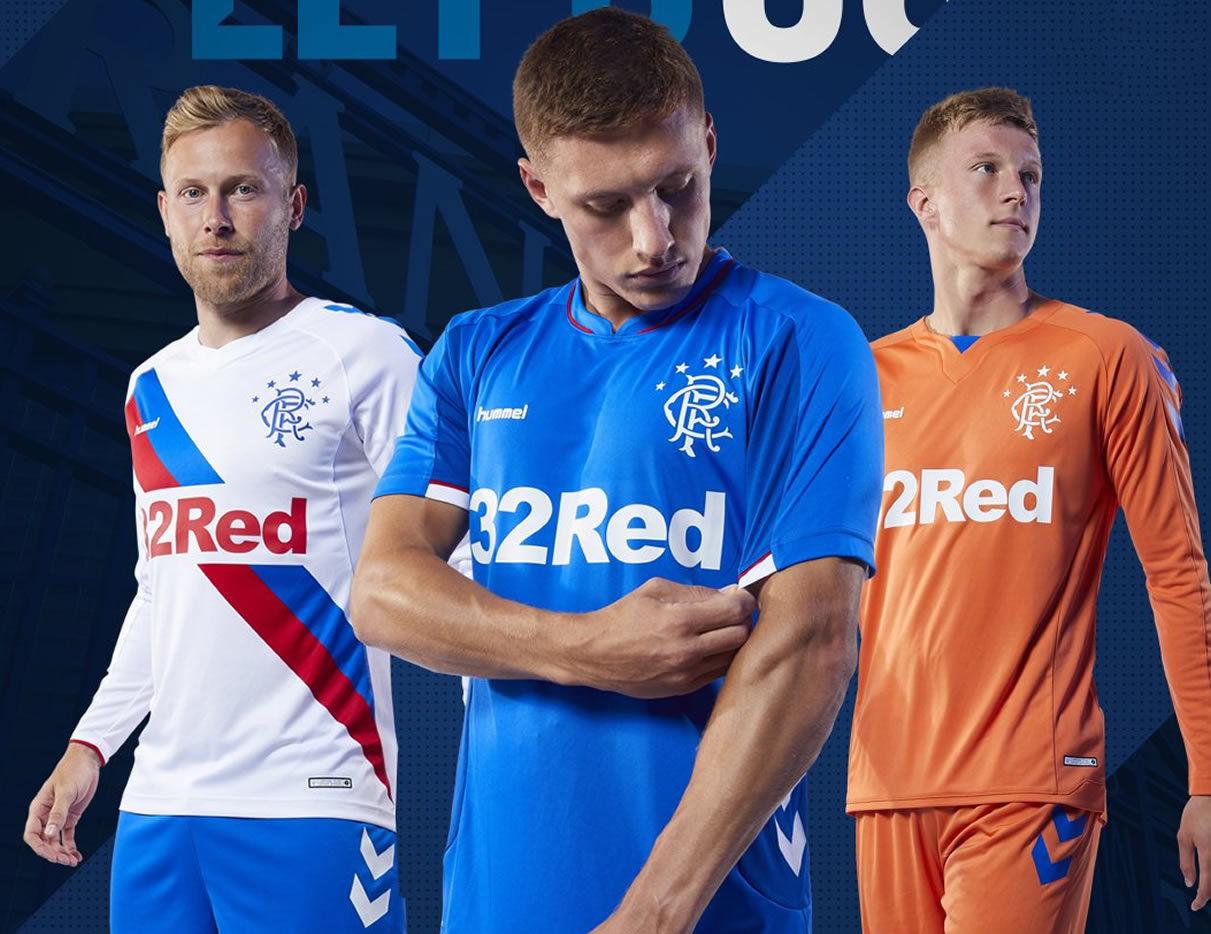 Camisetas Hummel 2018/19 del Rangers FC | Imagen Web Oficial