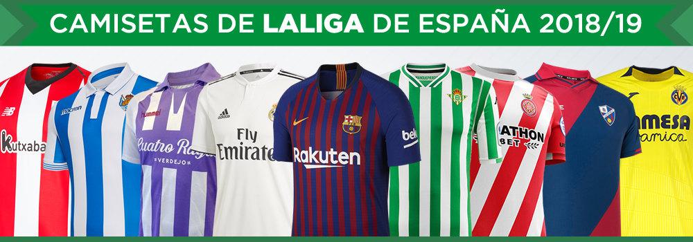 Camisetas de LaLiga de España 2018/19