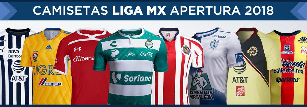 Camisetas del Torneo Apertura 2018 Liga MX