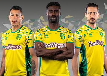 Camiseta titular Erreà Sport del Norwich City | Imagen Web Oficial