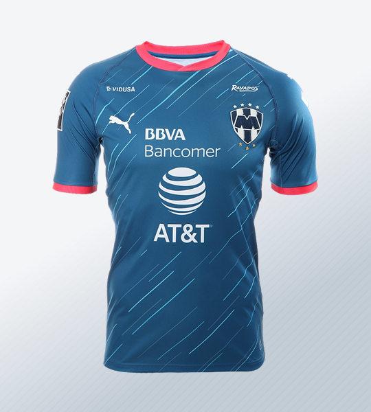 Camiseta visitante de los Rayados de Monterrey | Imagen Twitter Oficial