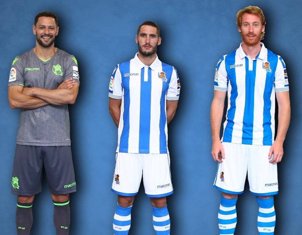 Camisetas 2018/19 de la Real Sociedad | Imagen Web Oficial