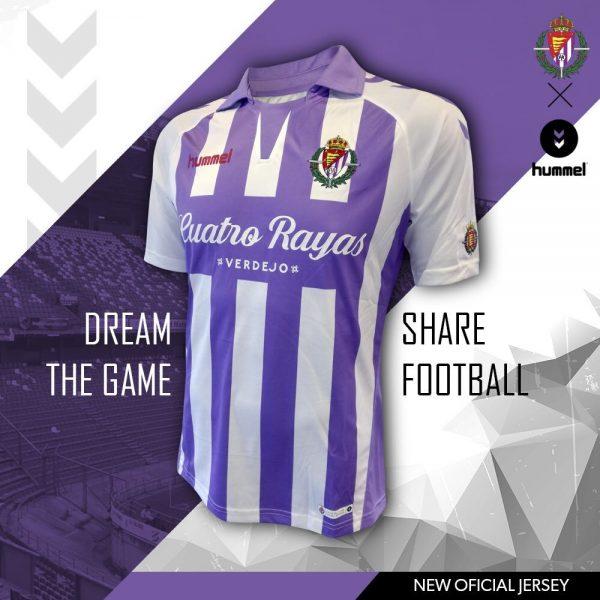 Camiseta titular del Real Valladolid   Imagen Hummel