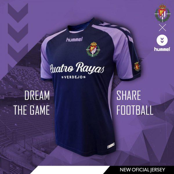 Camiseta suplente del Real Valladolid   Imagen Hummel