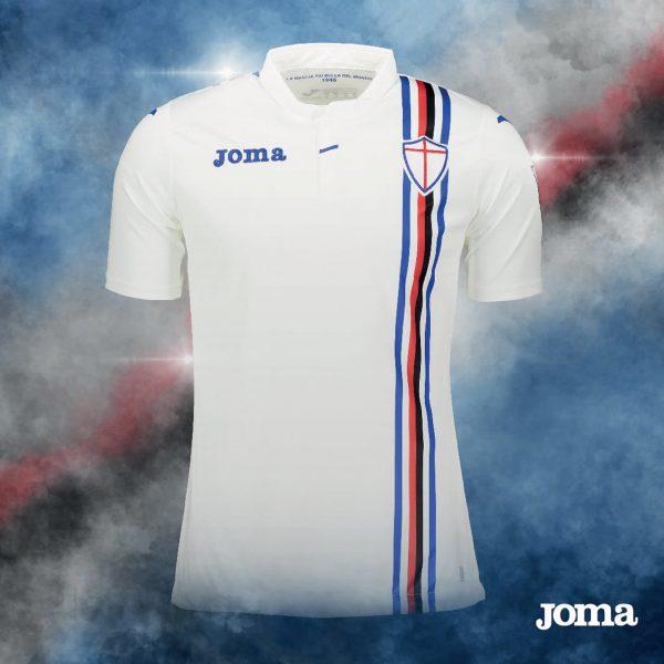 Camiseta suplente de la Sampdoria | Imagen Joma