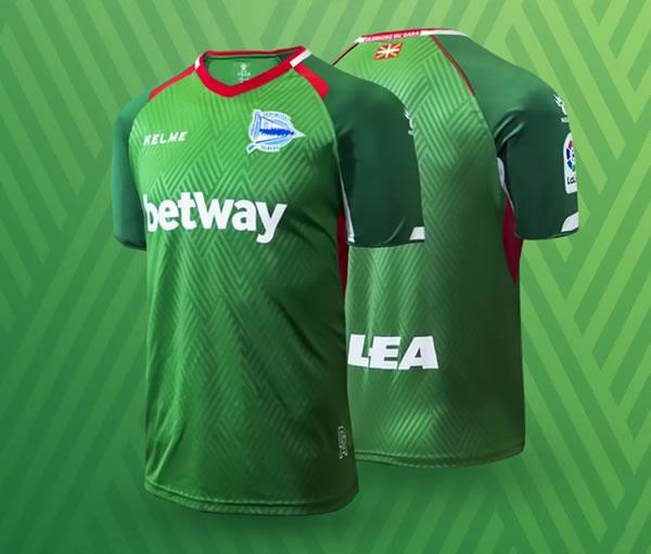 Camiseta suplente Kelme del Deportivo Alavés | Imagen Web Oficial