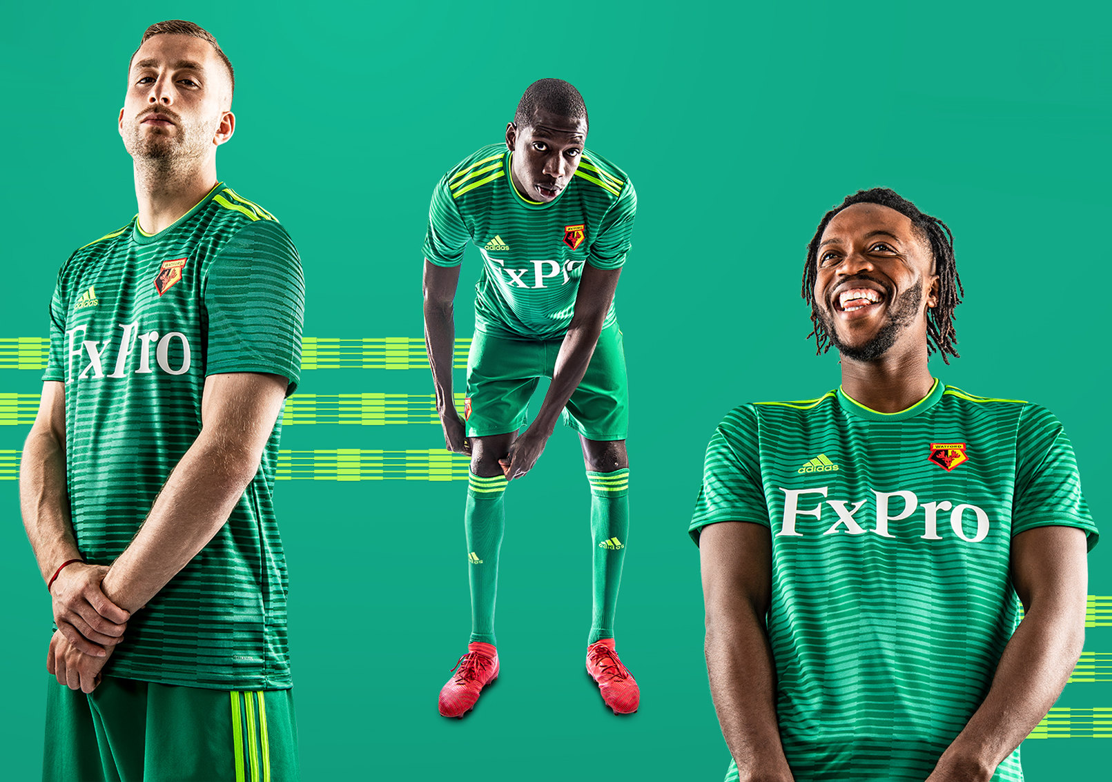 Camiseta suplente Adidas del Watford | Imagen Web Oficial