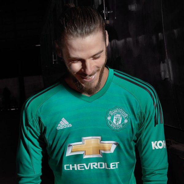 De Gea con la camiseta de arquero del Manchester United 2018/19 | Imagen Adidas
