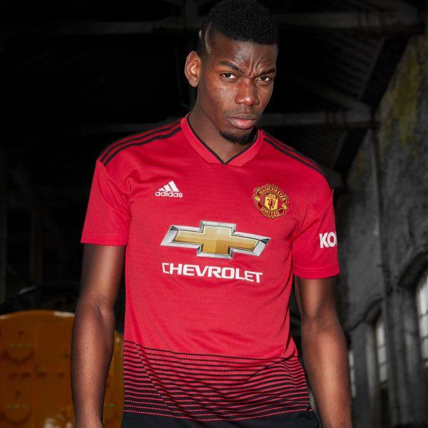 Pogba con la nueva camiseta titular del Manchester United 2018/19 | Imagen Adidas
