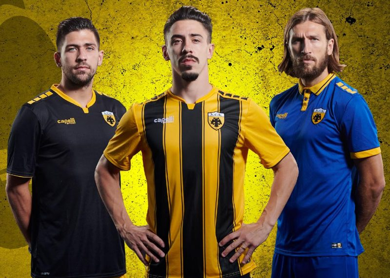 Camisetas Capelli Sport del AEK | Imagen Web Oficialq