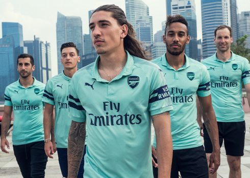 Tercera camiseta Puma del Arsenal FC 2018/19 | Imagen Twitter Oficial