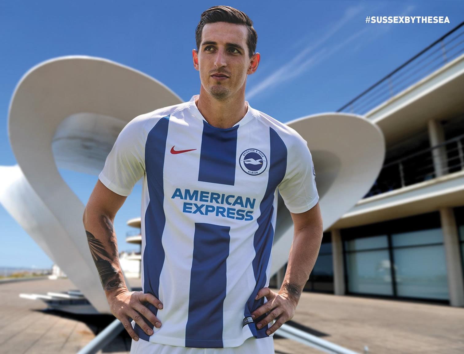 Camiseta titular Nike del Brighton & Hove Albion 2018/19 | Imagen Web Oficial