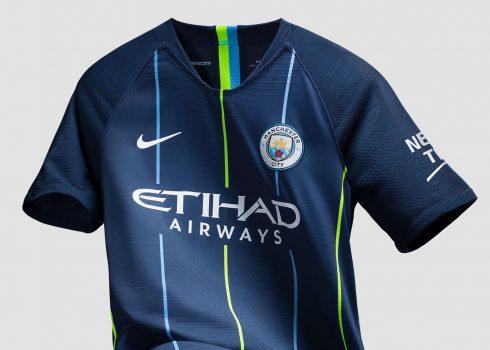 Camiseta suplente 2018/19 del Manchester City | Imagen Nike