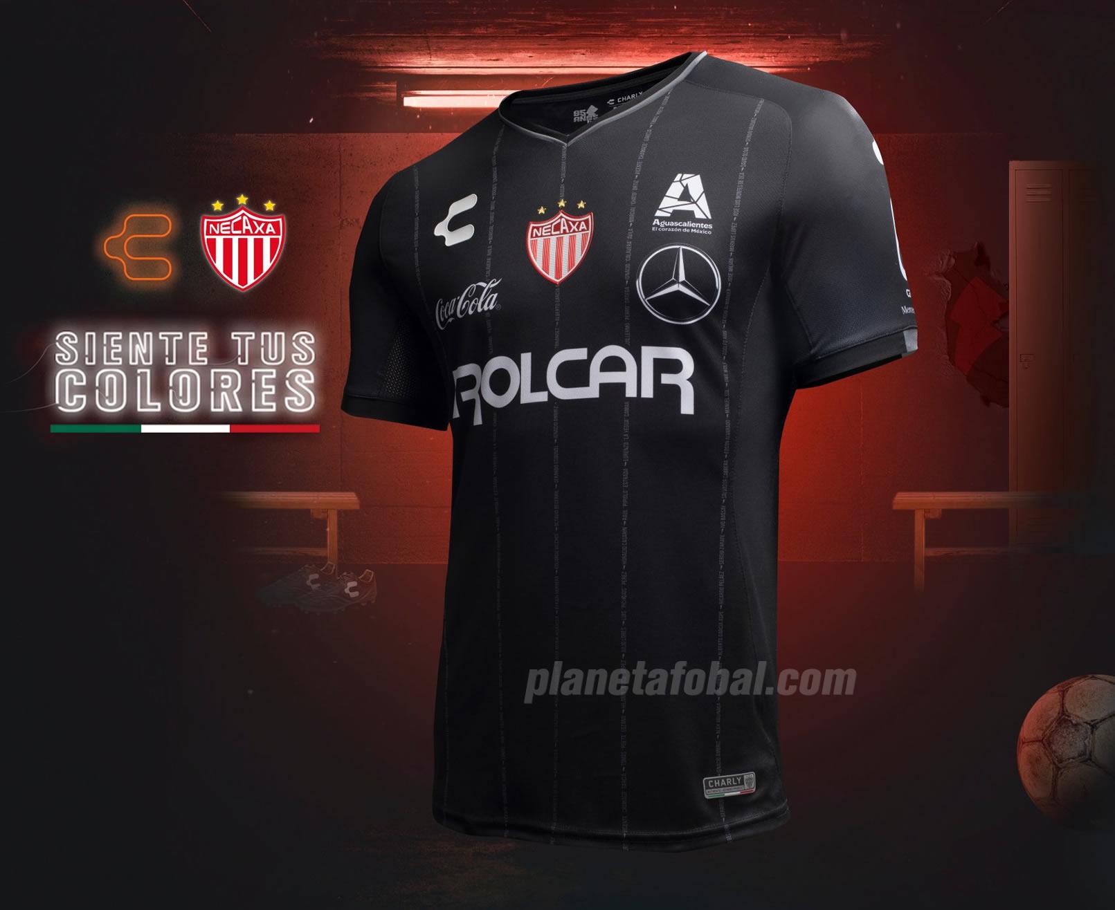 Camiseta visitante del Club Necaxa 2018/19 | Imagen Charly