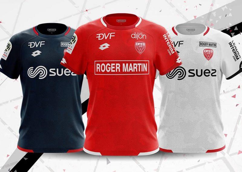 Camisetas Lotto del Dijon FCO | Imagen Web Oficial
