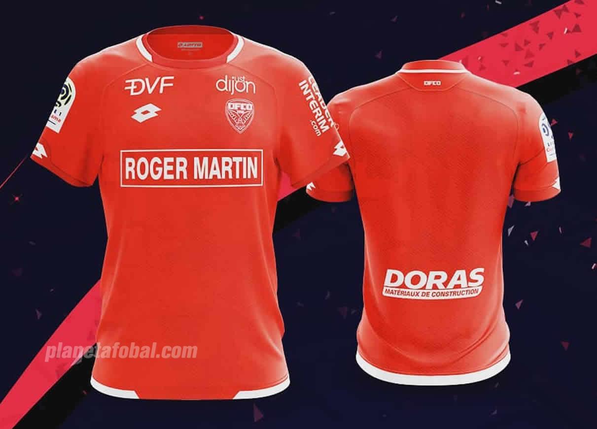 Camiseta titular Lotto del Dijon FCO | Imagen Web Oficial