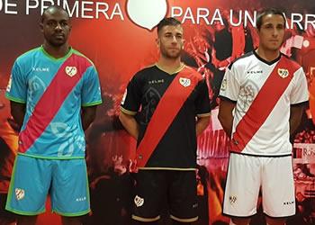 Camisetas Kelme del Rayo Vallecano | Imagen Web Oficial