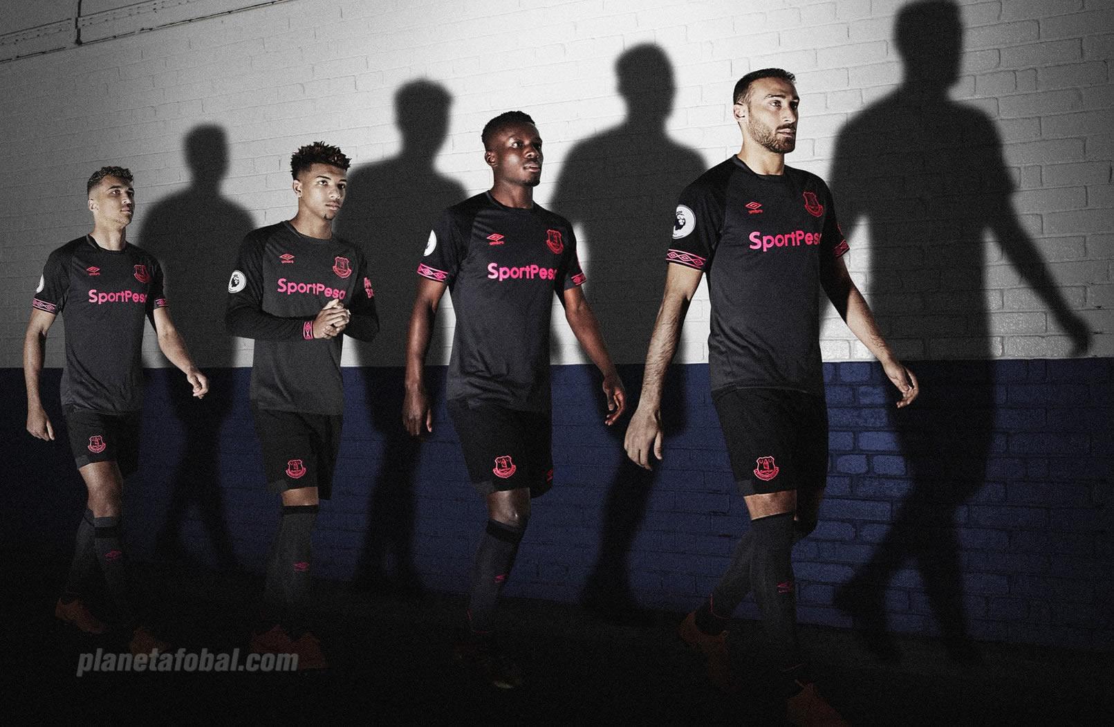 Camiseta suplente Umbro del Everton 2018/19 | Imagen Web Oficial