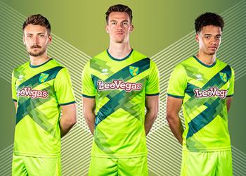 Tercera camiseta Erreà del Norwich City | Imagen Web Oficial