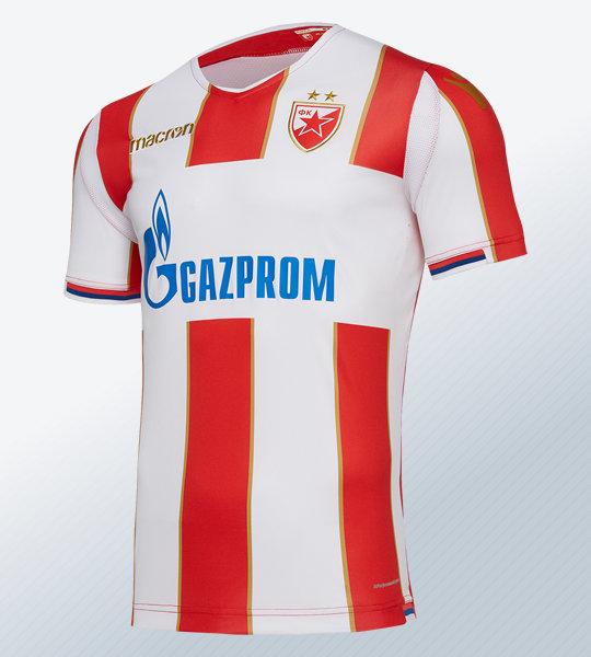 Camiseta titular del Estrella Roja de Belgrado 2018/19 | Imagen Macron
