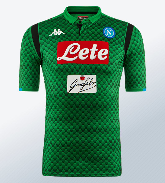 Camiseta de arquero verde del Napoli 2018/19 | Imagen Kappa