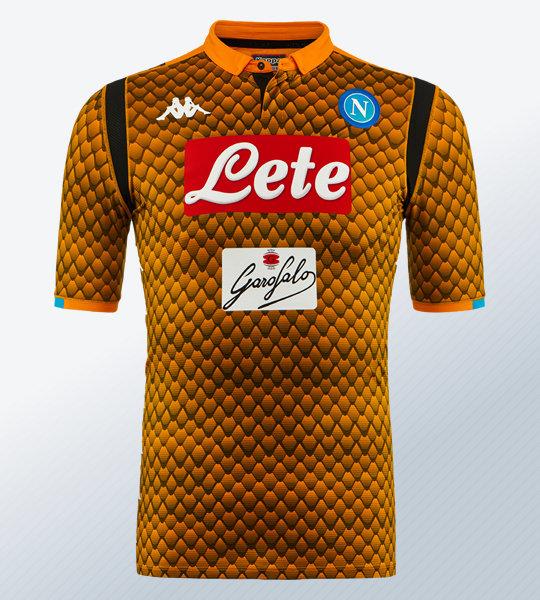 Camiseta de arquero naranja del Napoli 2018/19 | Imagen Kappa