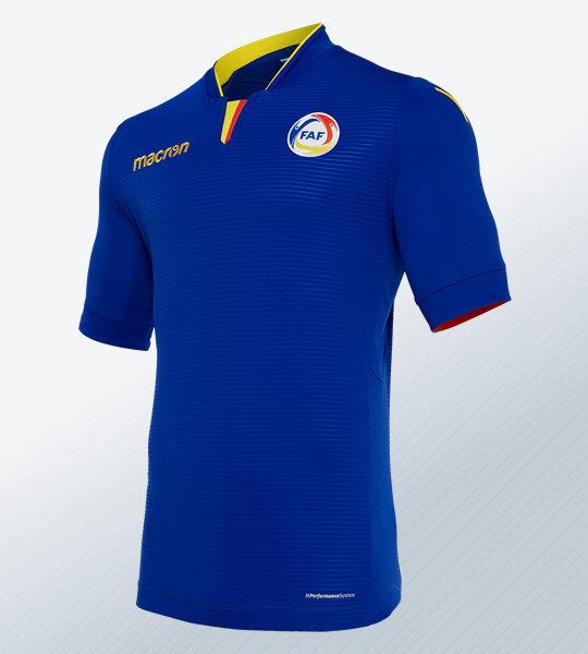 Camiseta suplente de la selección de Andorra 2018/19 | Imagen Macron