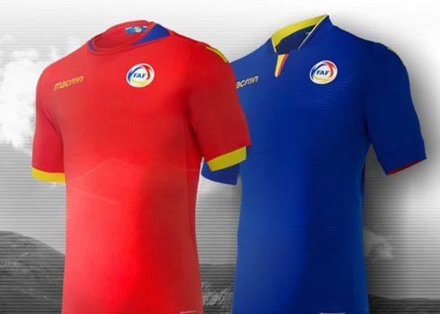 Camisetas de la selección de Andorra 2018/19 | Imagen Macron