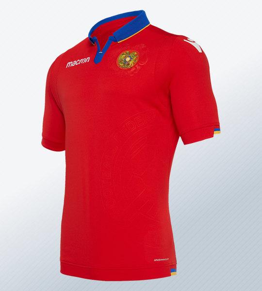 Camiseta titular de Armenia 2018/19 | Imagen Macron
