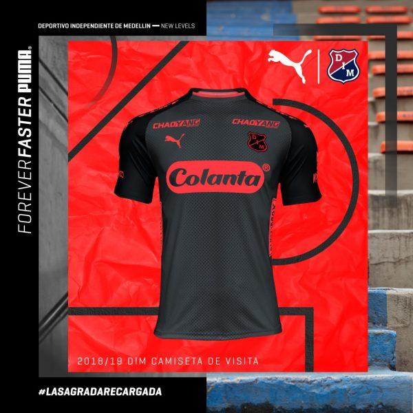 Camiseta suplente 2018/19 de Independiente Medellín | Imagen Gentileza Puma