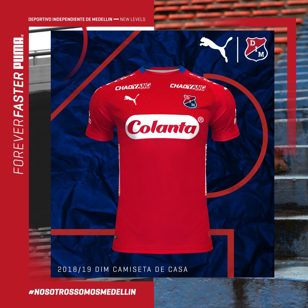 Camiseta titular 2018/19 de Independiente Medellín | Imagen Gentileza Puma