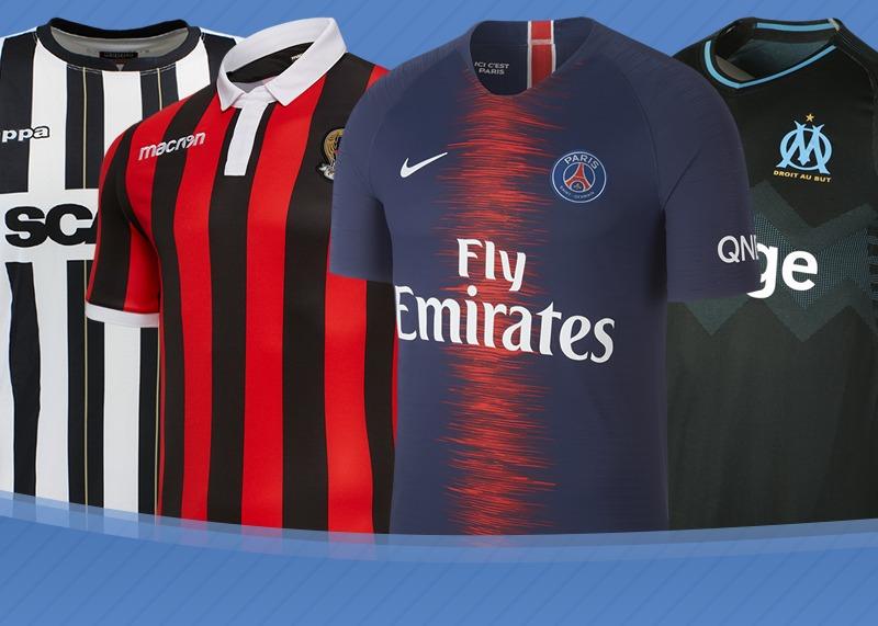Las camisetas de la Ligue 1 de Francia 2018/2019