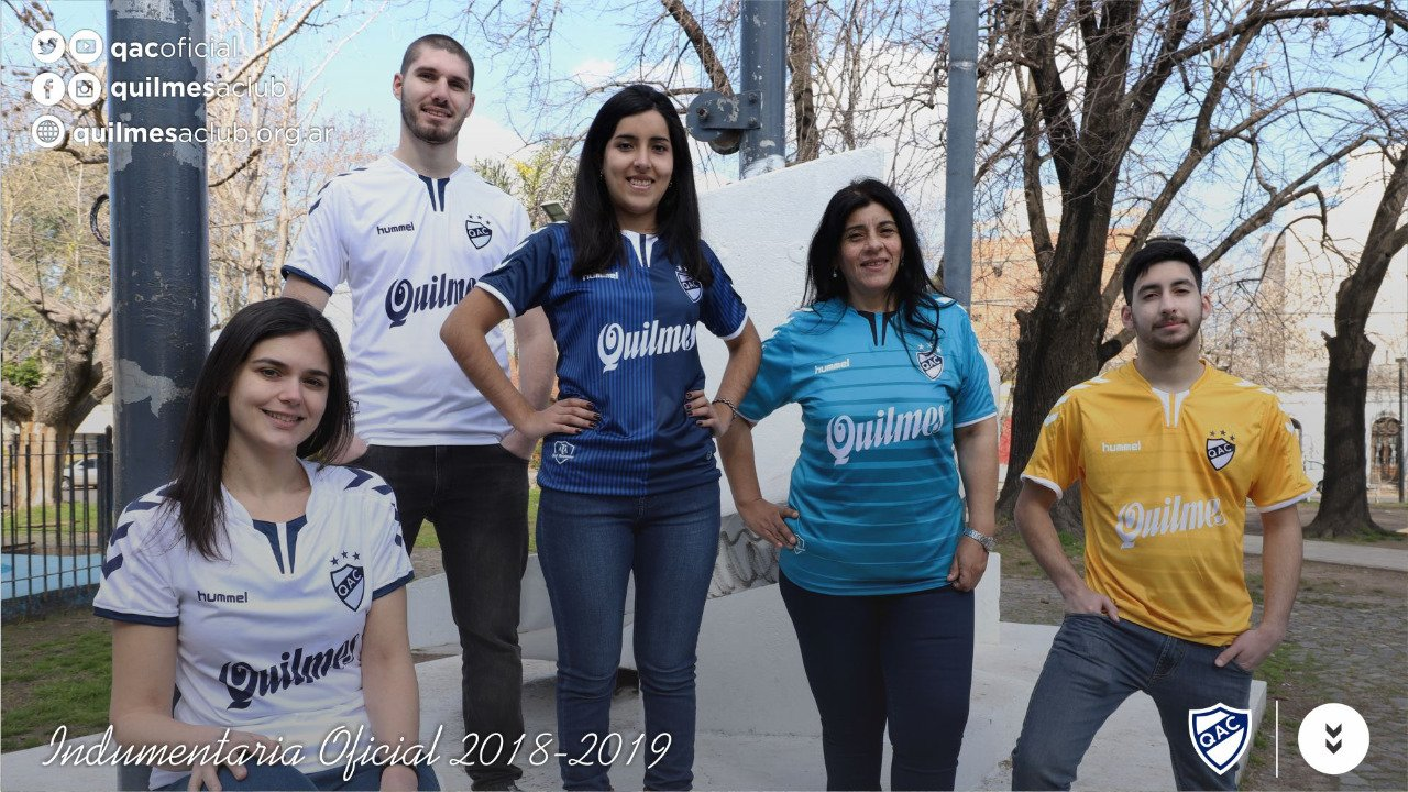 Camisetas Hummel 2018/19 de Quilmes AC | Imagen Twitter Oficial