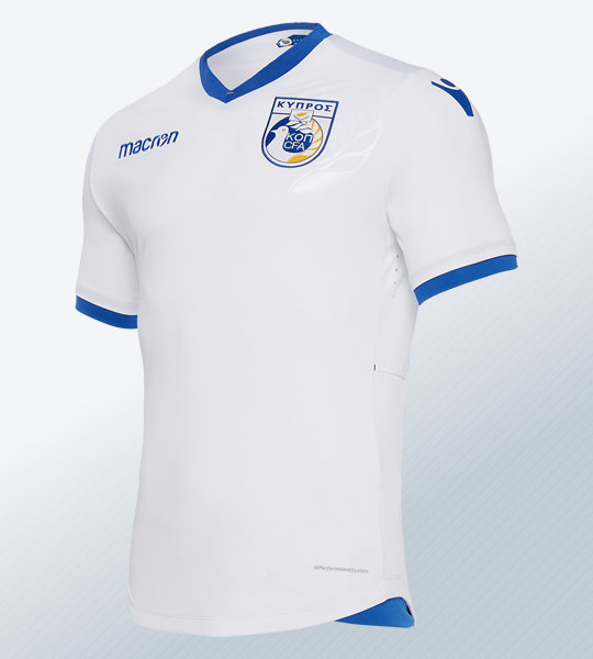 Camiseta suplente de Chipre 2018/19 | Imagen Macron