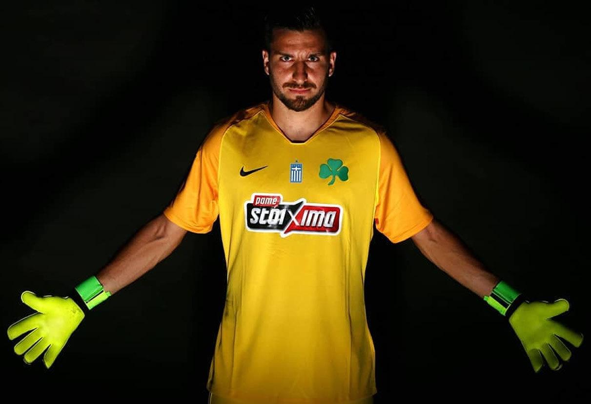 Camiseta principal de arqueros Nike 2018/19 del Panathinaikos | Imagen Web Oficial